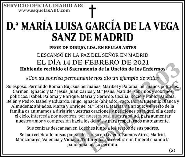 María Luisa García de la Vega Sanz de Madrid