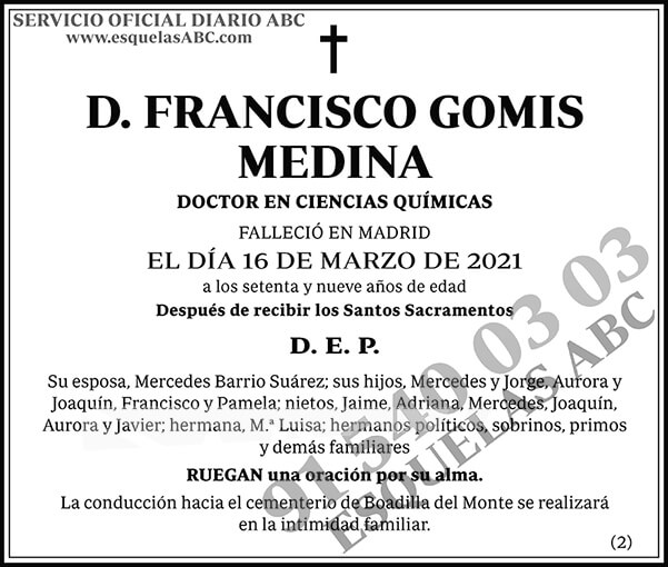 Francisco Gomis Medina