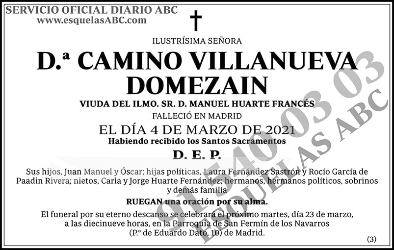 Camino Villanueva Domezain