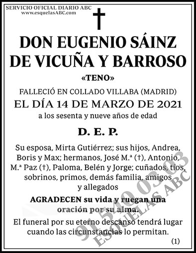 Eugenio Sáinz de Vicuña y Barroso
