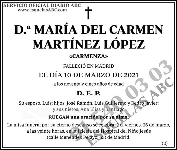 María del Carmen Martínez López
