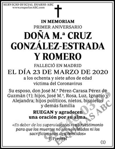 M.ª Cruz González-Estrada y Romero