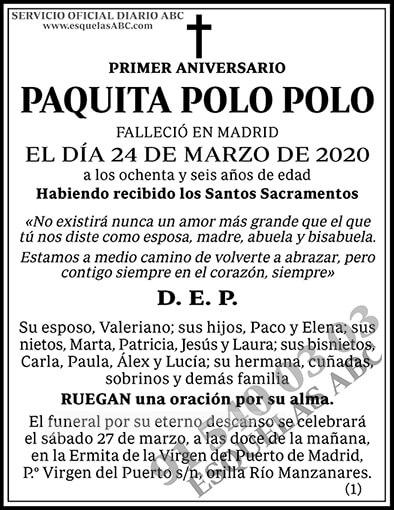 Paquita Polo Polo