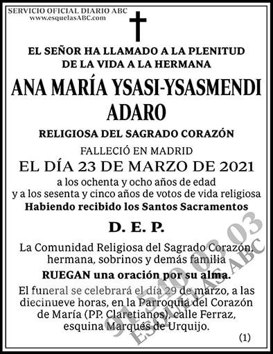 Ana María Ysasi-Ysasmendi Adaro