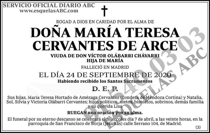 María Teresa Cervantes de Arce