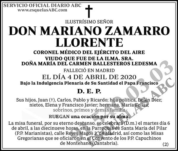 Mariano Zamarro Llorente