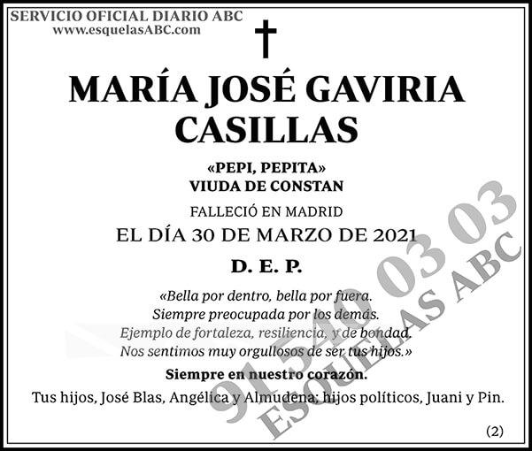 María José Gaviria Casillas