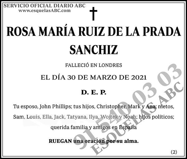 Rosa María Ruiz de la Prada Sanchiz
