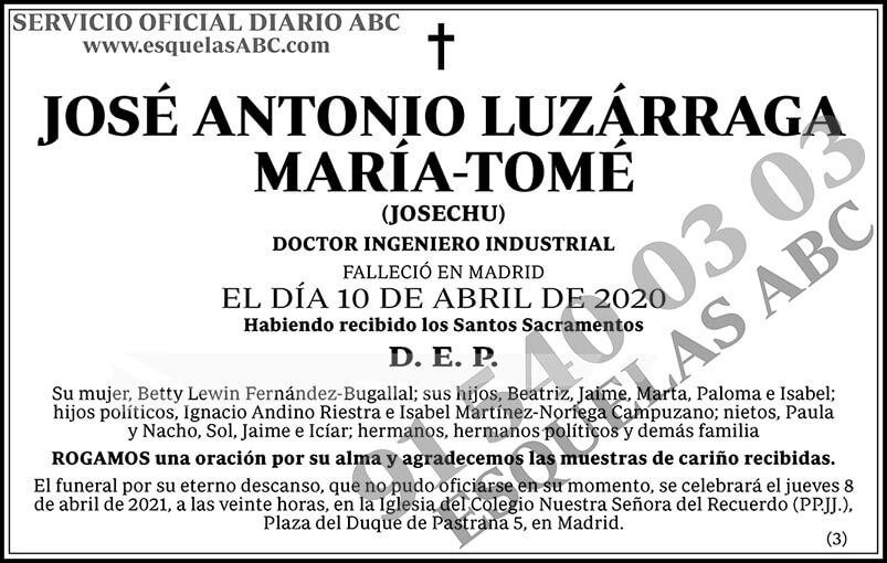 José Antonio Luzárraga María-Tomé