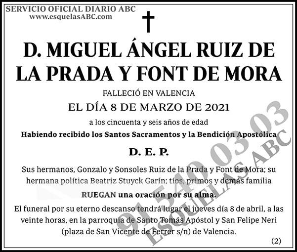 Miguel Ángel Ruiz de la Prada y Font de Mora