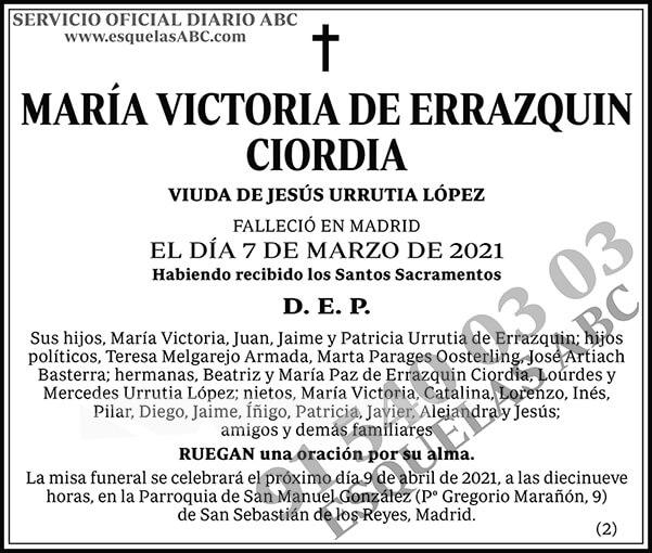María Victoria de Errazquin Ciordia