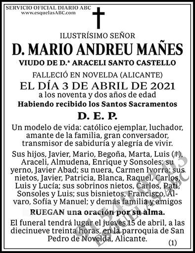 Mario Andreu Mañes