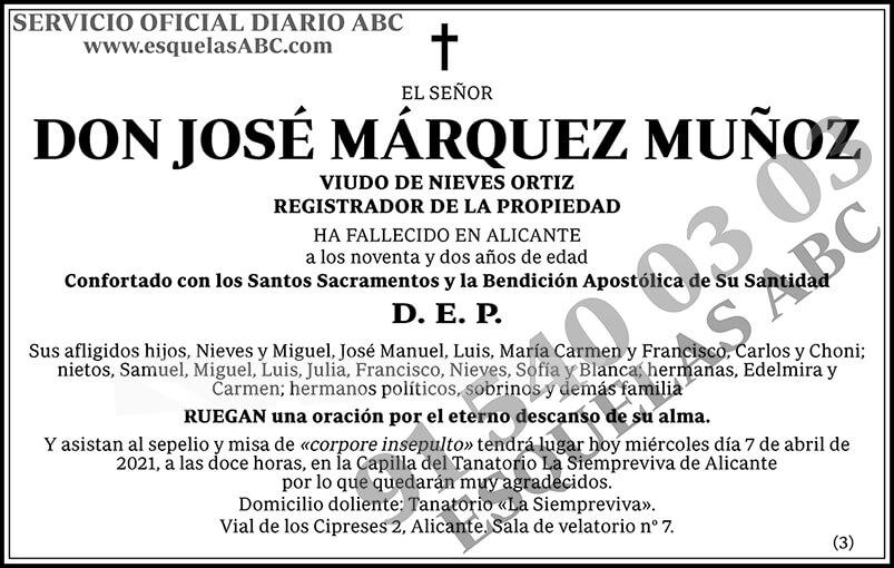 José Márquez Muñoz