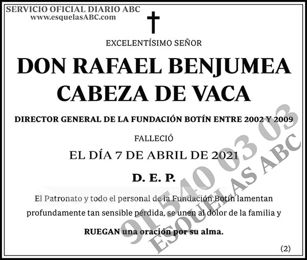 Rafael Benjumea Cabeza de Vaca