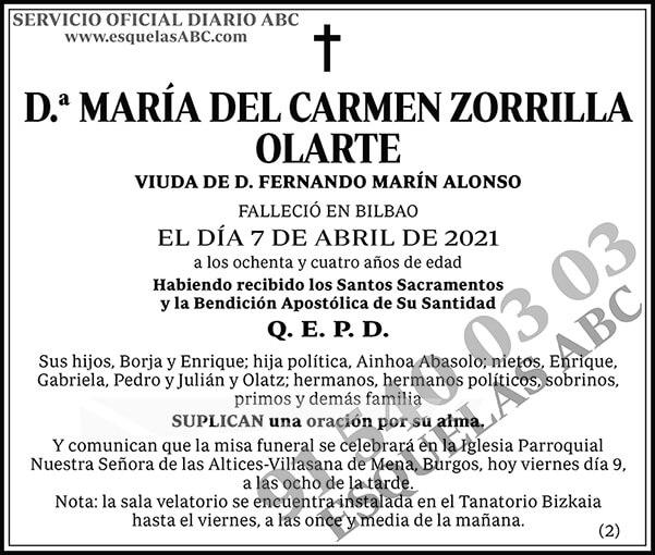 María del Carmen Zorrilla Olarte