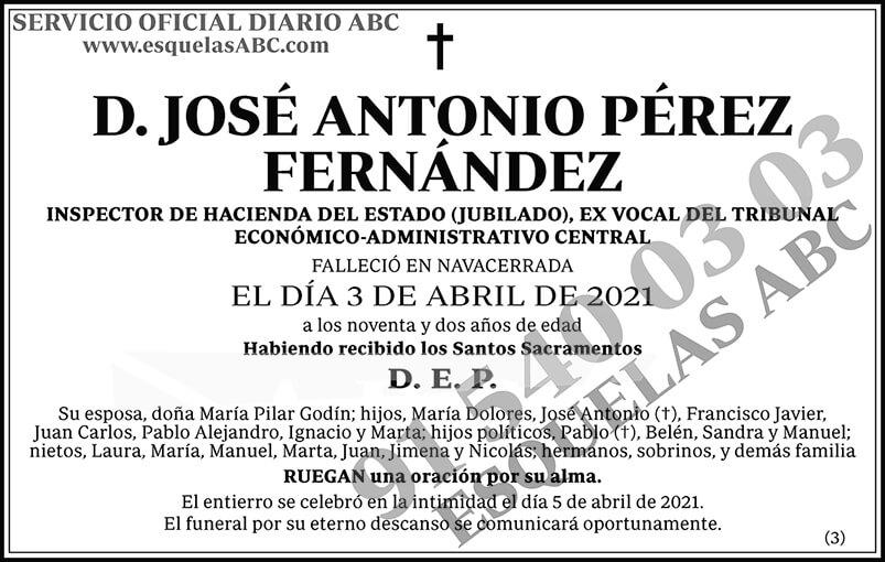 José Antonio Pérez Fernández