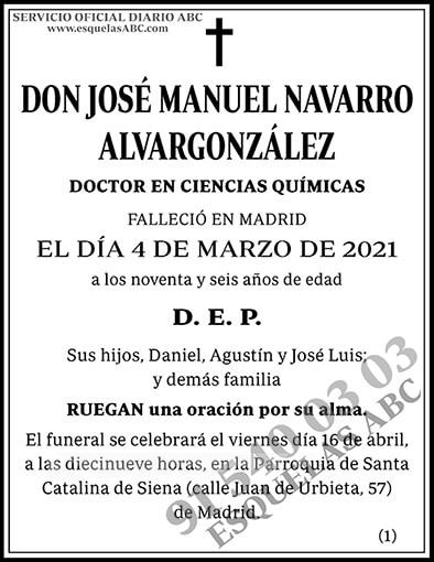 José Manuel Navarro Alvargonzález