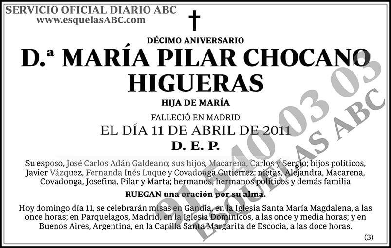María Pilar Chocano Higueras