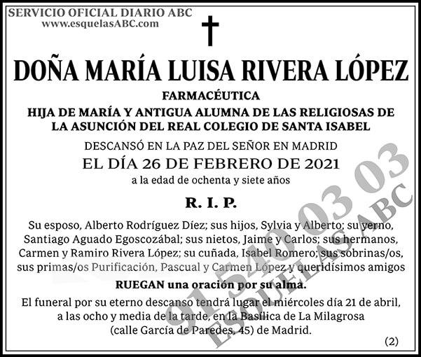 María Luisa Rivera López
