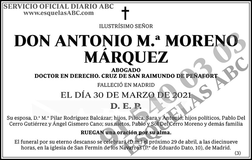 Antonio M.ª Moreno Márquez