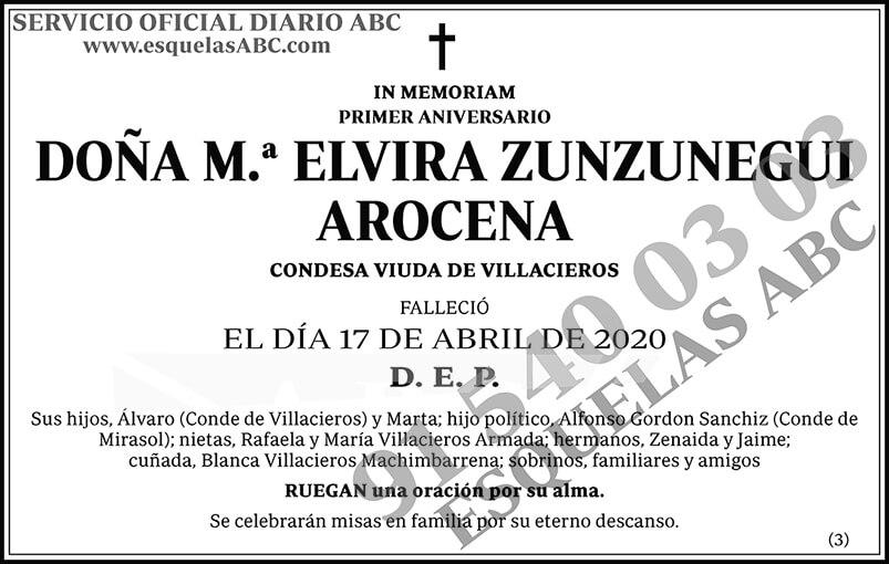 M.ª Elvira Zunzunegui Arocena