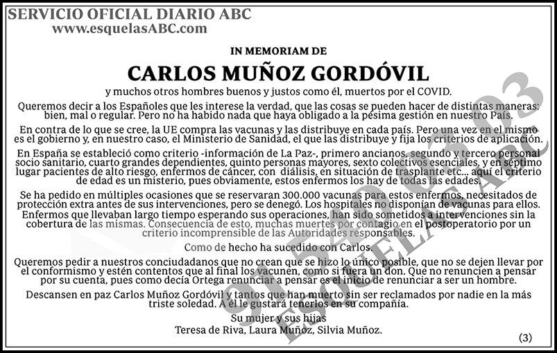 Carlos Muñoz Gordóvil