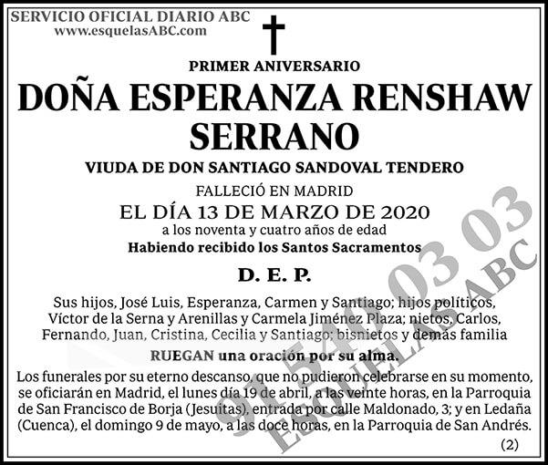 Esperanza Renshaw Serrano