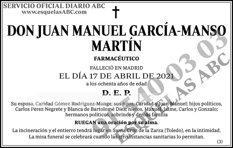 Juan Manuel García-Manso Martín