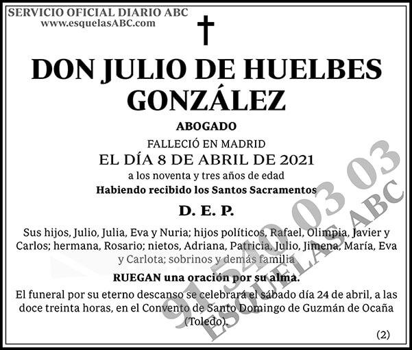 Julio de Huelbes González