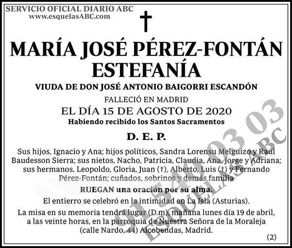 María José Pérez-Fontán Estefanía
