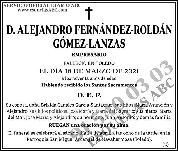 Alejandro Fernández-Roldán Gómez-Lanzas