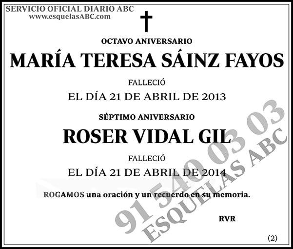María Teresa Sáinz Fayos