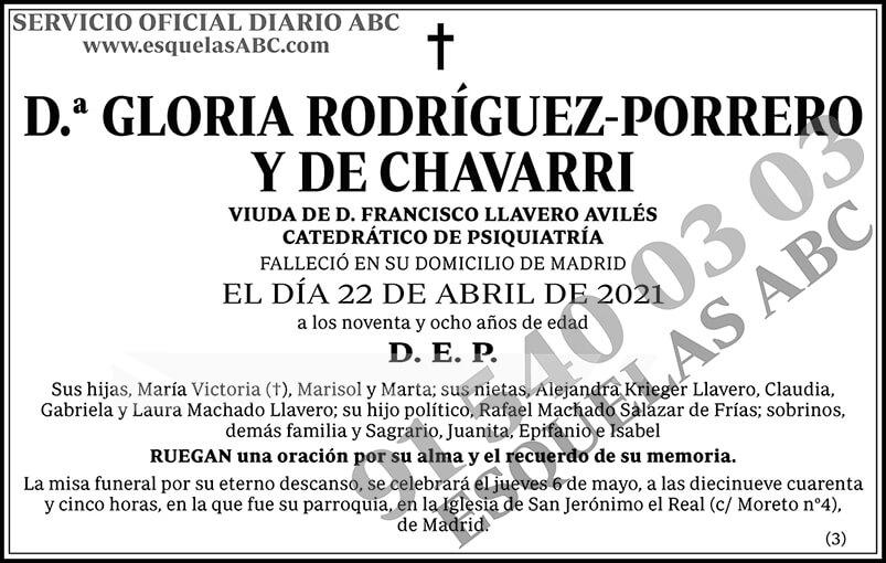 Gloria Rodríguez-Porrero y de Chavarri