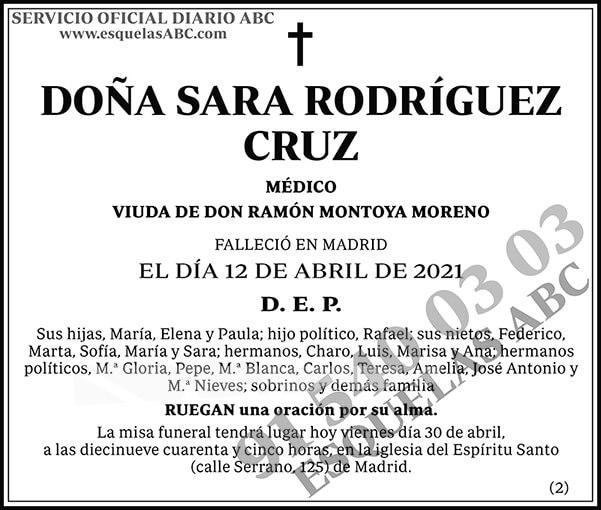 Sara Rodríguez Cruz