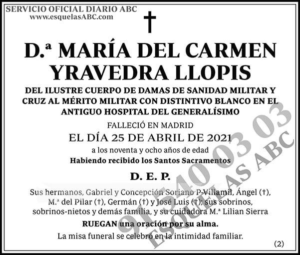 María del Carmen Yravedra Llopis