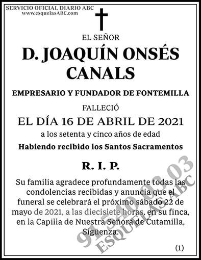 Joaquín Onsés Canals