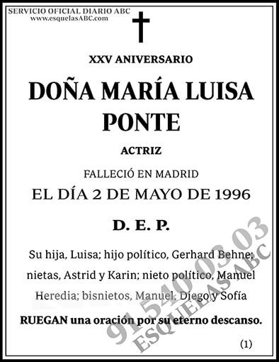 María Luisa Ponte