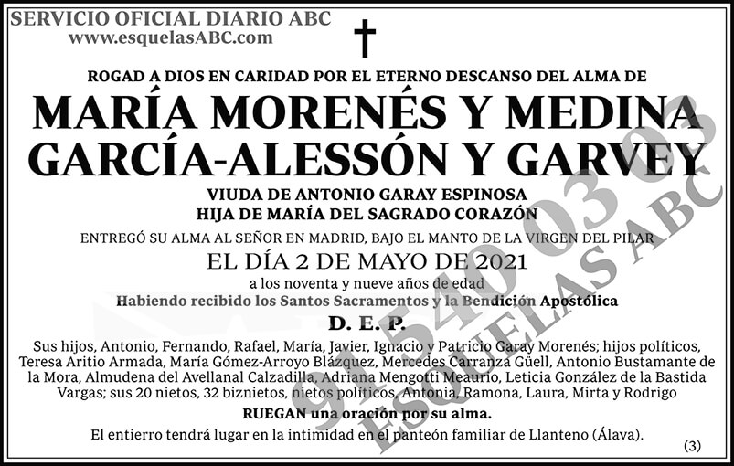 María Morenés y Medina García-Alessón y Garvey