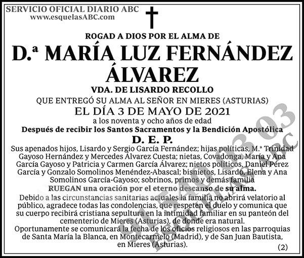 María Luz Fernández Álvarez