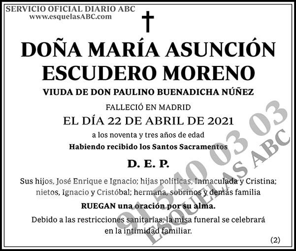 María Asunción Escudero Moreno