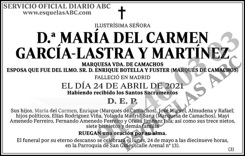 María del Carmen García-Lastra y Martínez