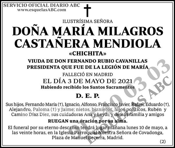 María Milagros Castañera Mendiola