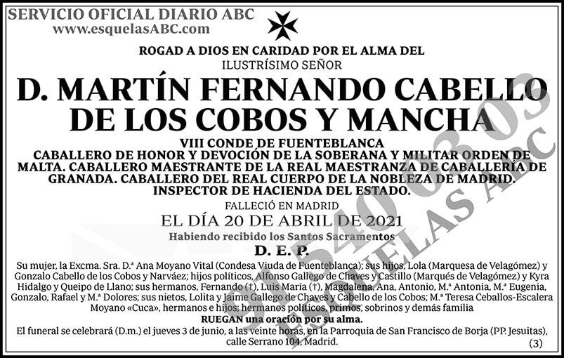 Martín Fernando Cabello de los Cobos y Mancha