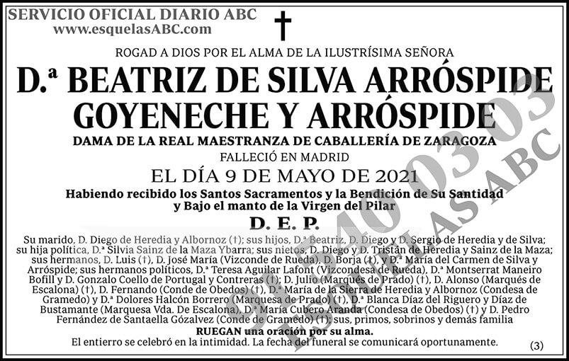 Beatriz de Silva Arróspide Goyeneche y Arróspide