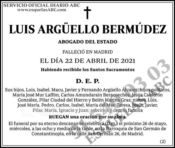 Luis Argüello Bermúdez