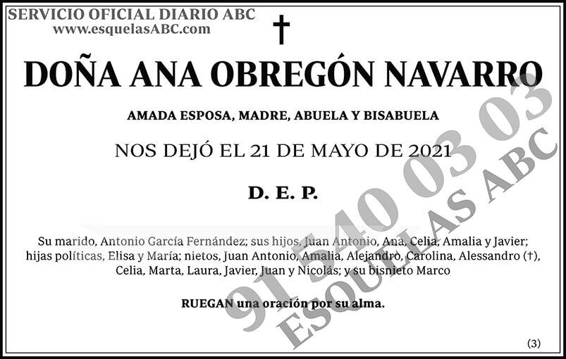 Ana Obregón Navarro
