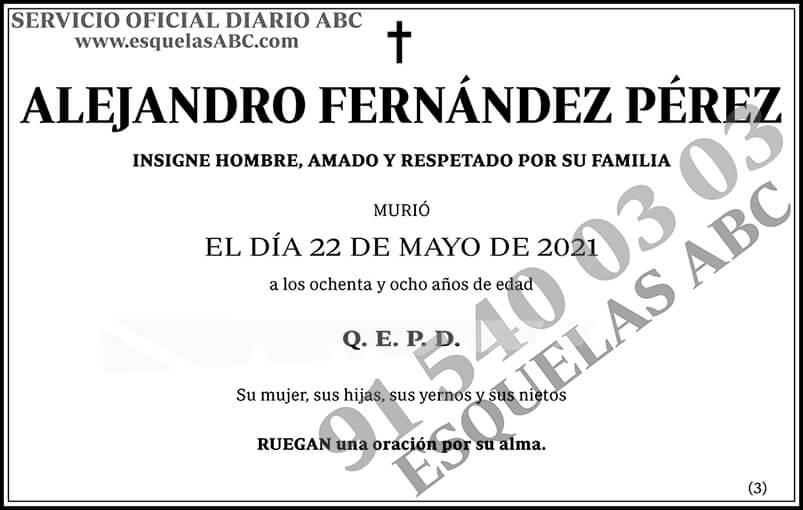 Alejandro Fernández Pérez