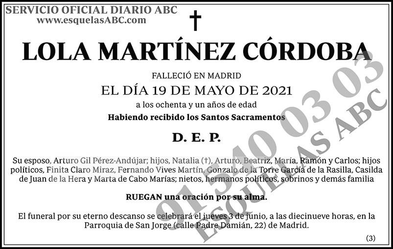 Lola Martínez Córdoba