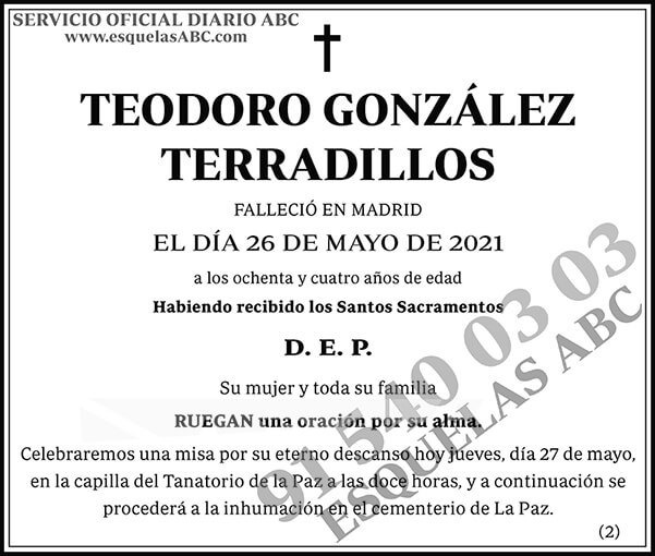 Teodoro González Terradillos