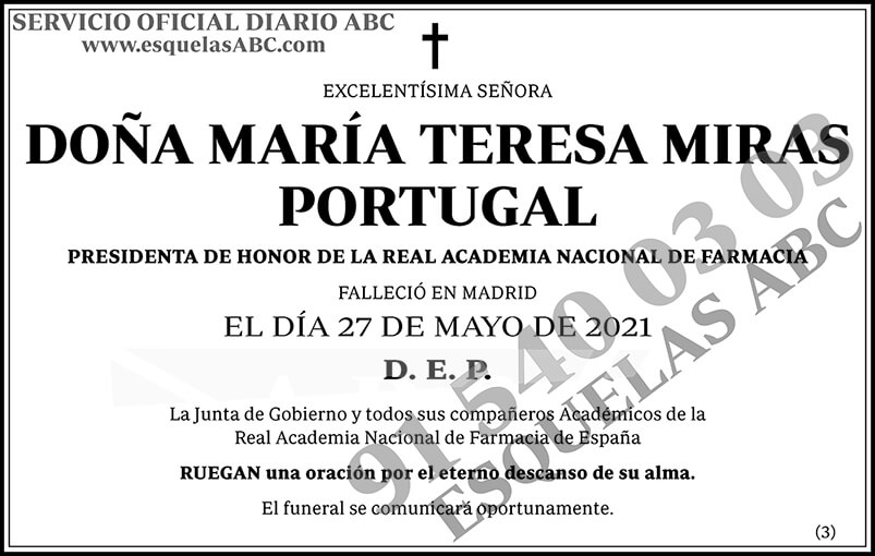 María Teresa Miras Portugal